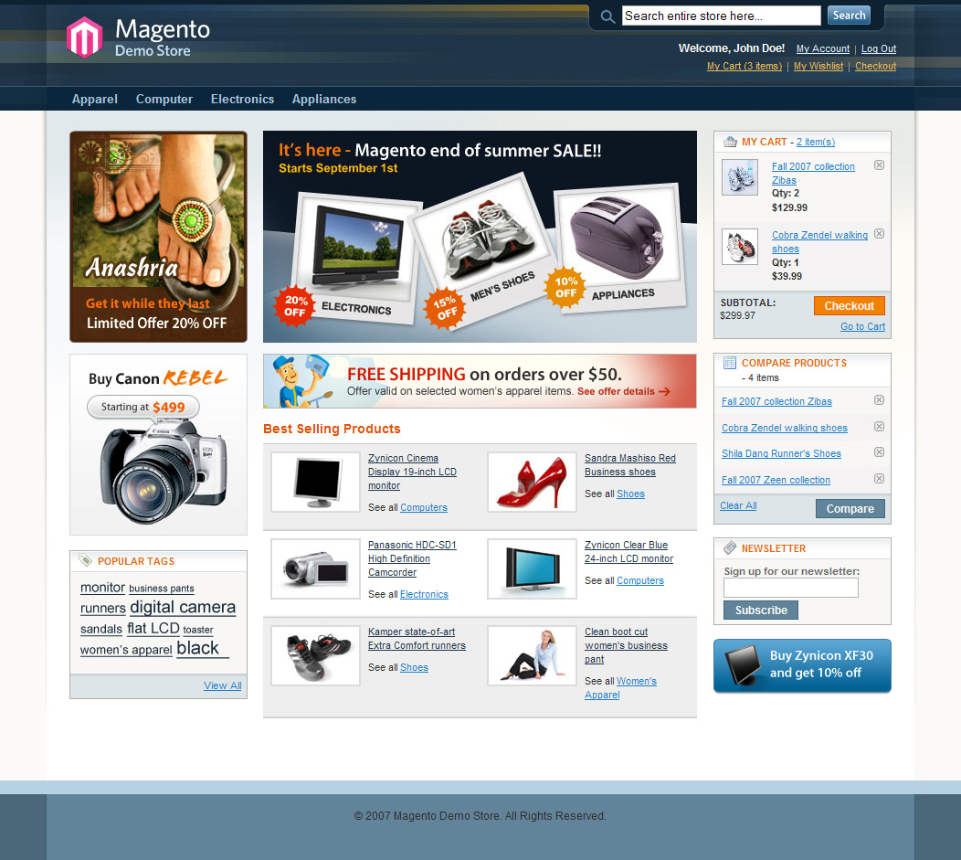 All About Magento Web Design